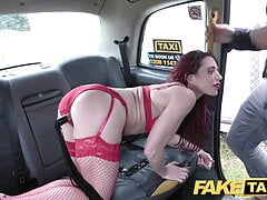 Fake Taxi Horny lady fits a wine bottle up her pussy