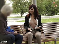 Jeny Smith was caught wearing crotchless pants in public