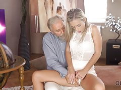 OLD4K. Shanie Ryan finally tries dick of her Geography teach